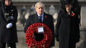 Queen Elizabeth II And Boris Johnson Led Empty Hall Cenotaph Remembrance Ceremony - SurgeZirc UK