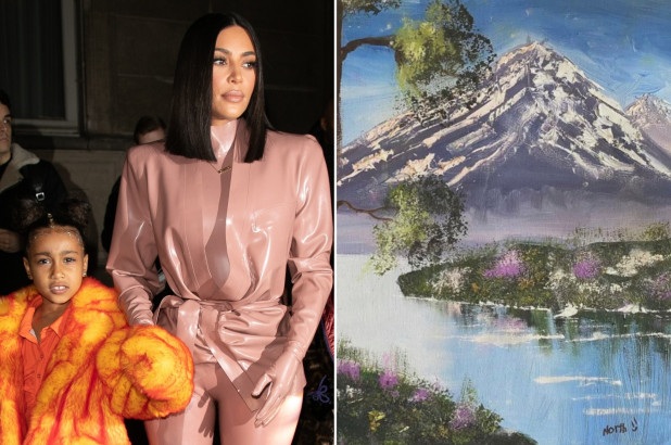 Kim Kardashian Slams People Who Doubted North West's Painting - SurgeZirc UK
