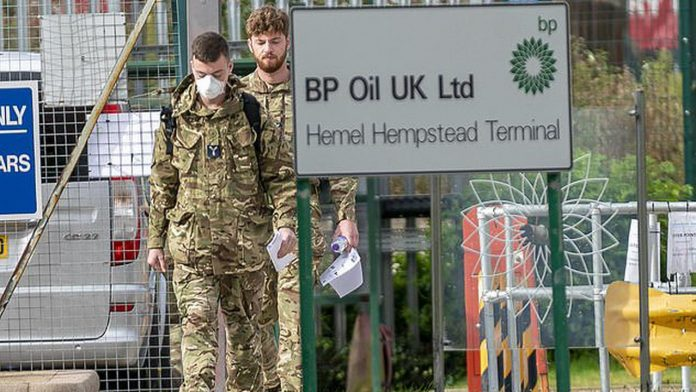 UK fuel crisis: Army tankers will deliver fuel from Monday.